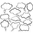 Comic cloud speech bubbles vector image