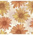 hand drawn sunflower vector image