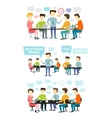 People working at the desk vector image