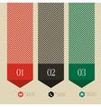 Vertical banner arrow design for infographics vector image