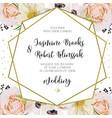 wedding invitation invite card design with pink vector image