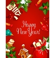 New Year holiday poster vector image