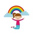 cartoon happy kid vector image