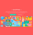 shopping online and e-commerce shopping concept vector image