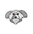 pop art style dog sticker vector image