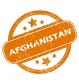 Afghanistan grunge icon vector image