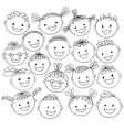 kids heads expand vector image