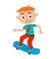 boy on skateboard in vector image