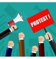 Cartoon hands of demonstrants vector image