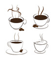 coffee and smoke vector image
