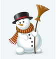 Cute Christmas snowman vector image