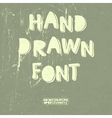 hand drawn font with shadow vector image