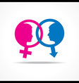 Male and female symbol and face stock vector image