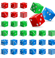 Set of realistic dice vector image