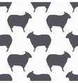 Sheep silhouette seamless pattern Lamb meat vector image