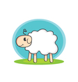 Sheep with shadow vector image
