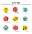 Startup Business Icon Set vector image
