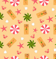 Summer Tropical Beach Seamless Background vector image