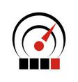 temperature sensor logo icon simple style vector image