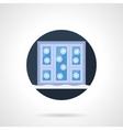 Winter window round flat icon vector image