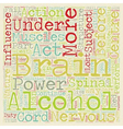 HOW ALCOHOL AFFECTS THE BRAIN text background vector image