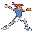 Girl Softball Pitcher vector image