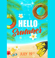 summer beach vacation club poster vector image
