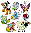 set with pictures for children vector image vector image