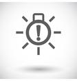 Exterior bulb failure vector image vector image