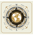 Nautical vintage compass 01 vector image