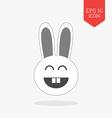 Happy rabbit icon Flat design gray color symbol vector image