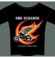 biker t shirt template vector image