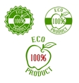 Fresh product labels with fruit vector image