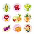 Funny Vegetable Characters Set vector image