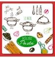 Home Made Pasta Recipe vector image