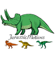 motive of jurassic era vector image