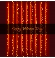 Lightning Garland With Hearts vector image vector image
