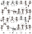 Set of children playing silhouettes vector image