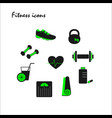 green fitness icons vector image