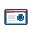 website internet page vector image