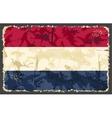 Holland Netherlands grunge flag vector image