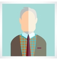 old man Flat icons collection vector image
