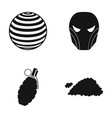 ball mask and other web icon in black style vector image