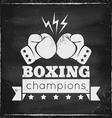 boxing chalk vector image