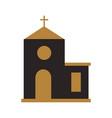 church building cartoon christmas celebration vector image