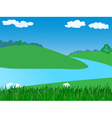 landscape with river vector image