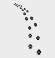 trail of dog vector image
