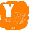 vegetable alphabet for education vector image