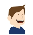 man cartoon smiling isolated vector image