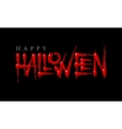 Halloween bloody lettering on a black background vector image